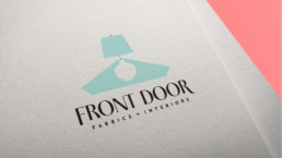 Front Door Fabrics + Interiors Logo Design