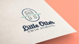 Little Otter Swim School Logo Design